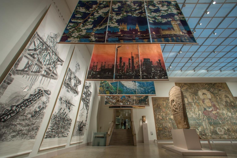 《잉크아트: 현대 중국의 현재로서의 과거 Ink Art: Past as Present in Contemporary China》 전시 전경, 뉴욕 메트로폴리탄 미술관 갤러리 206호, 2014년 3월